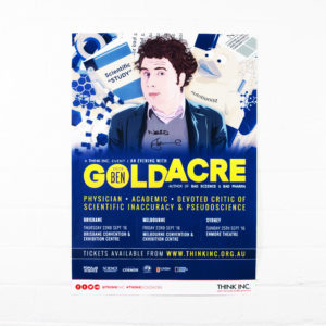 Ben Goldacre – 2016 tour poster (Signed)