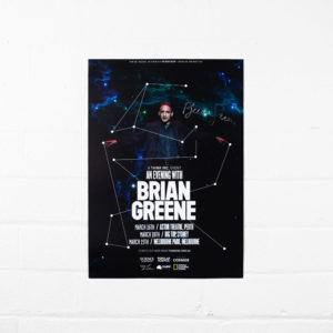 Brian Greene – 2016 tour poster (signed)