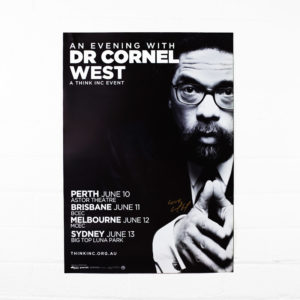 Dr Cornel West – A2 2015 tour poster (Signed)